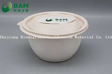 100% Fully Biodegradable Compostable Food Grade Sugarcane Plant Fiber Takwaway Bowl for Rice Soup Dessert Fruits Salad
