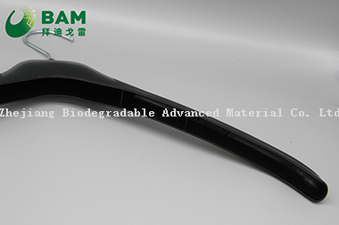 Eco Friendly Biodegradable Hangers Custom Hanger Size Marker Non-Slip Biodegradable Plastic Clothes Hanger for Hotel