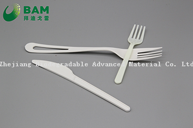 Biodegradable Convenient Disposable Plastic Cutlery Set Knife Spoon Fork for PLA Cutlery